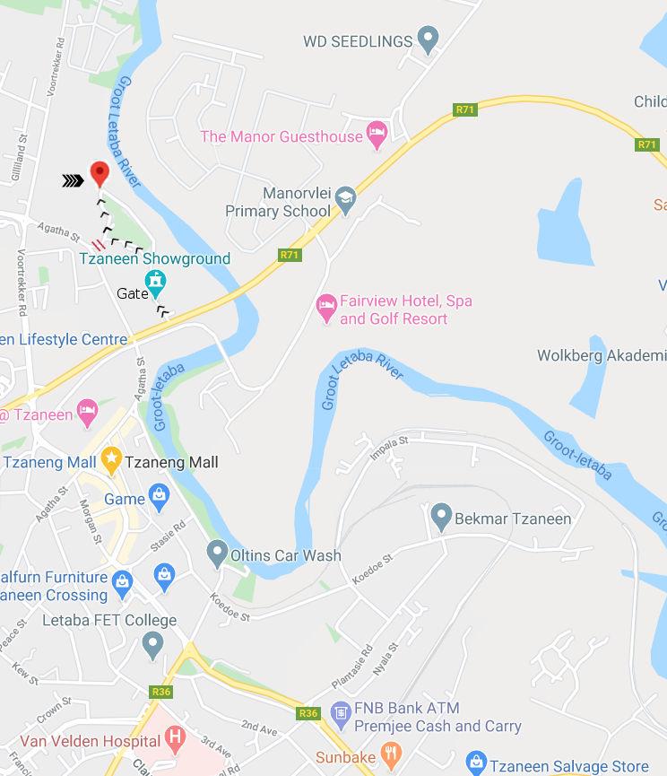 Enlarged DDA location Map DDA (Dynamic Driving Academy)